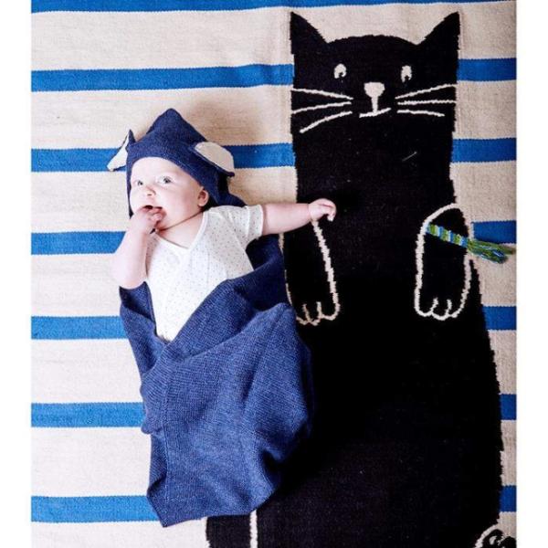 CAT RUG-WHITE/MULTI