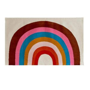 RAINBOW RUG-WHITE/MULTI